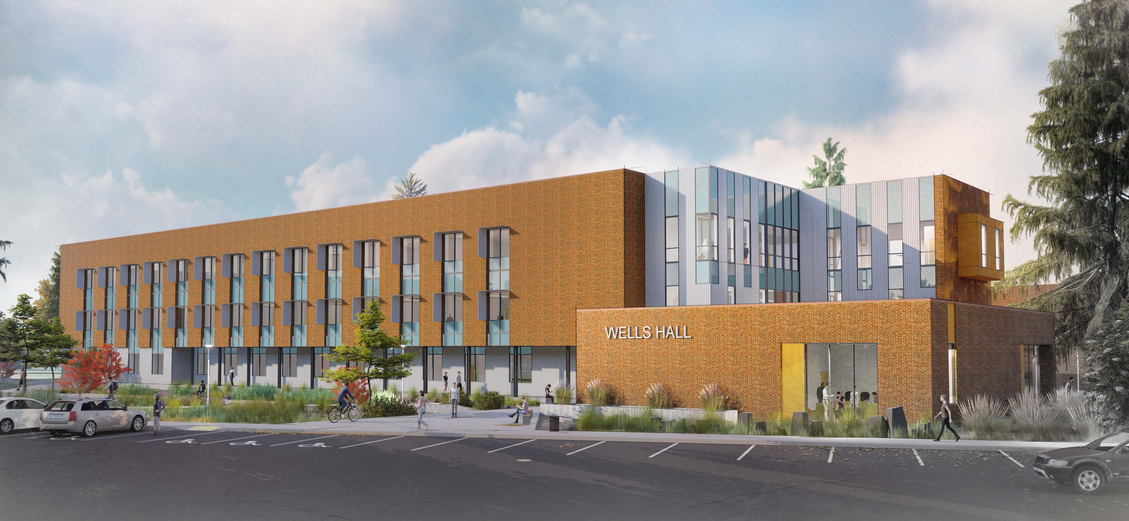 Wells Hall replacement rendering